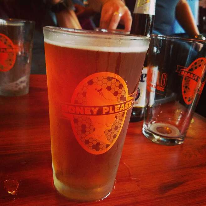 Armadillo Ale Works debuted their new beer, Honey Please, at East Side on Friday. Here' sa photo (complete with promotional glass) from @shealollar.