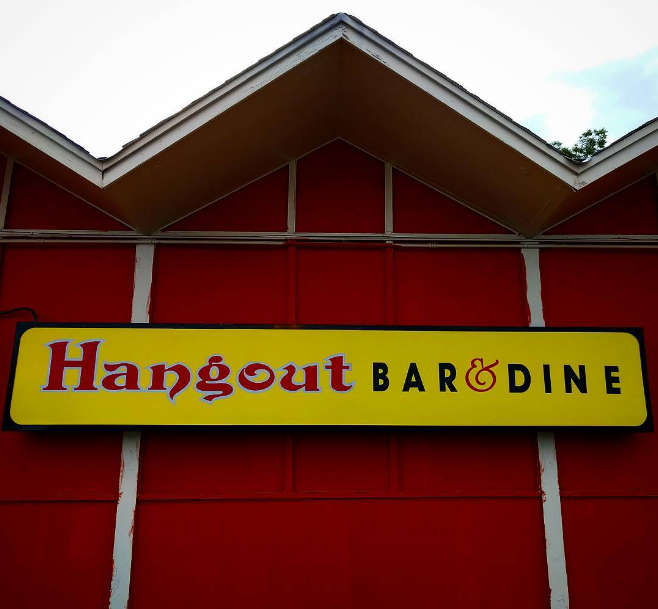 @thurmonater photographed the front of Rasoi's new reincarnation, Hangout Bar & Dine.