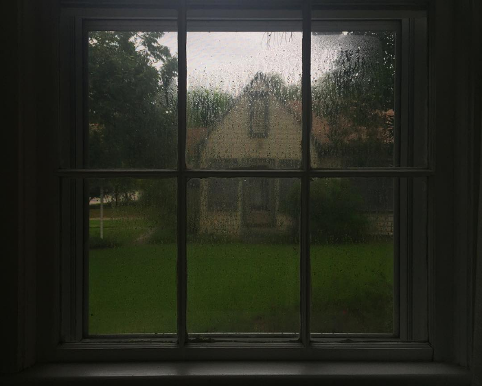 What Denton looked like when looking out the window last week. Photo by @snowberrylife.