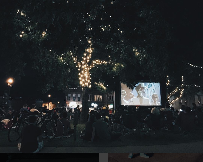 Local charitable organization, Denton Friends with Benefits held two events this weekend. Here's a photo from their Saturday evening showing of Pokemon The First Movie on the Denton Courthouse Lawn. Photo by @wedentondoit.