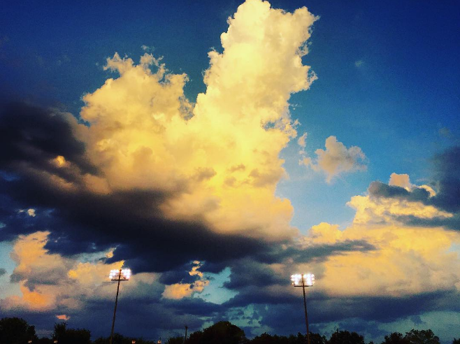 We had a couple of serious clouds last week. @bigdock captured one of them over Guyer High School.
