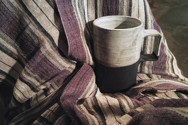 @kkbigley with a shot of @throstudio's mug and @oddbirdcompany's Turkish towel.