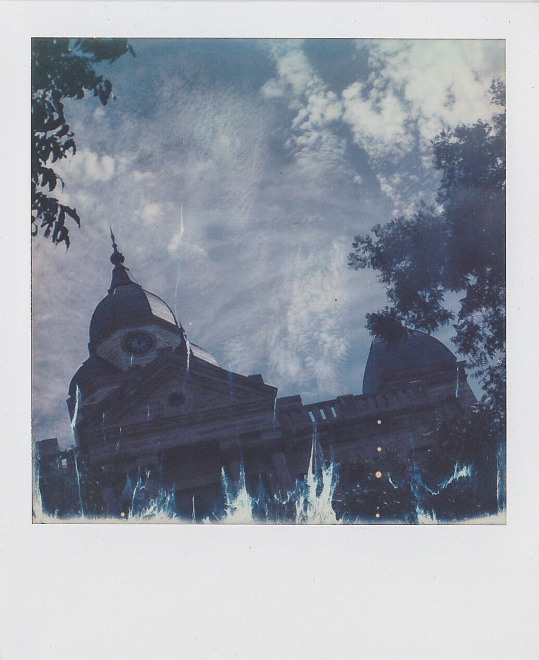 @studiodfw captured the courthouse on Impossible Project film during PolaCon.