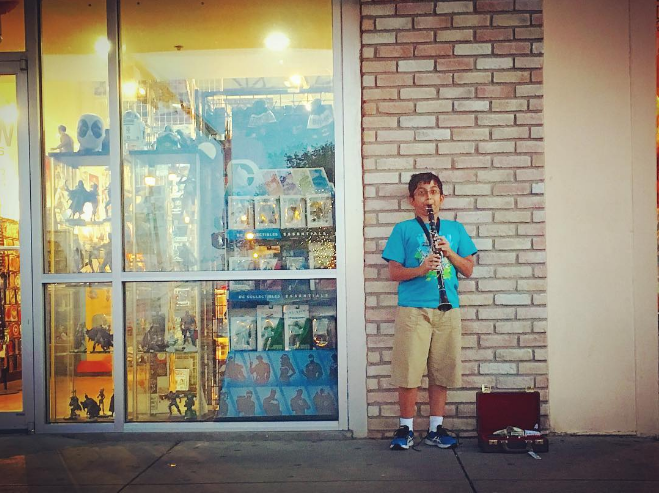 @lei.of.the.land documented some spur of the moment busking outside of More Fun last week.