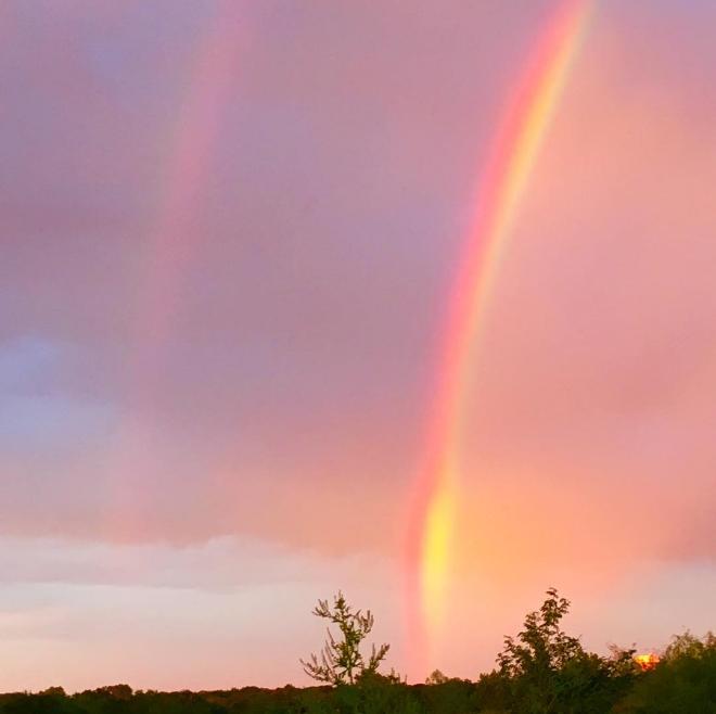 @mlkendrick26 documenting a rainbow on Sunday evening.