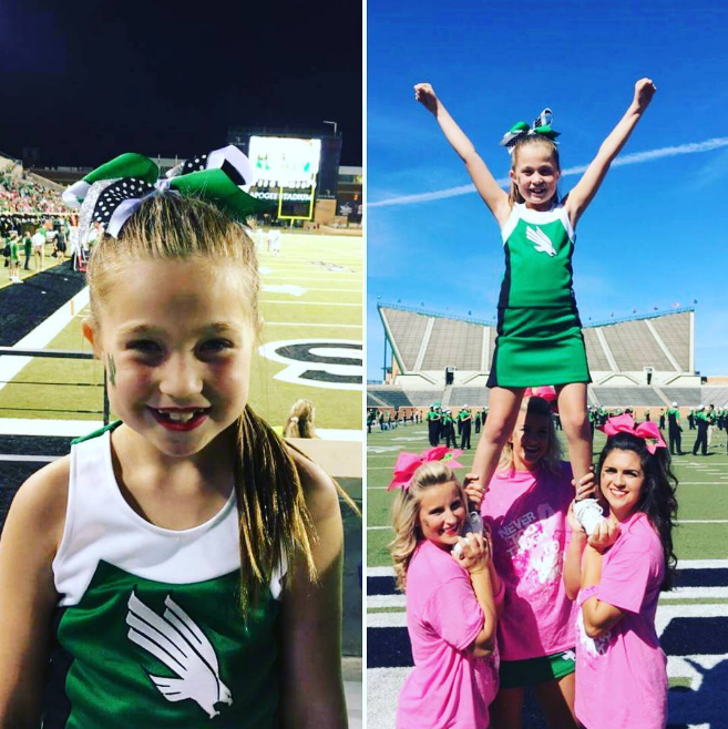 @unt cheerleaders offered younger cheerleaders the opportunity to spend quality time with their role models. Photo by @chapakim.