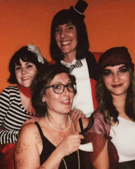 @scrapdenton held their annual Masquerade Ball on Saturday and it was a great time. Here's an Instax shot from their photo booth of some of the awesome ladies who put on the event.
