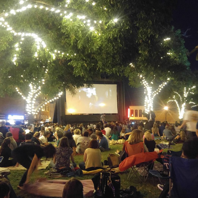 @allgoodautorepair at the showing of The Goonies on the Denton square last Tuesday.