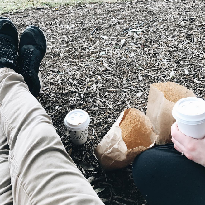 @ianharber doing it right on the square with some donuts and coffee.