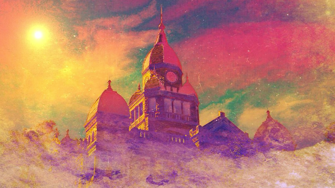 @bobhedlund funkified the Denton County Courthouse.