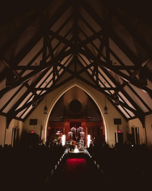 Doug Burr played St. Andrew's Presbyterian Church on Friday night. Here's a photo from inside the beautiful church from @brightneighborhood.