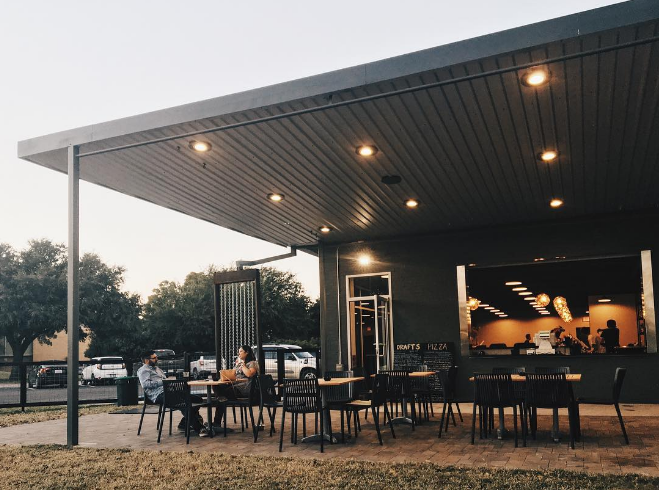 We grabbed some pizza and dumplings at Backyard on Bell last week and you can bet we'll be back for more (and possibly some of that Underwood canned wine, too) this week. Photo by @wedentondoit.