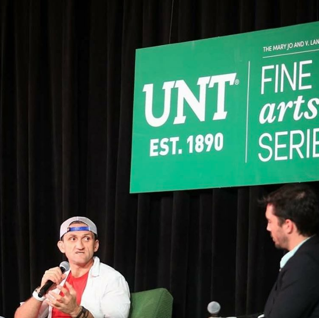 Casey Neistat visited UNT as part of the Fine Arts Series last week. Read more about the event here. Photo by @wedentondoit.