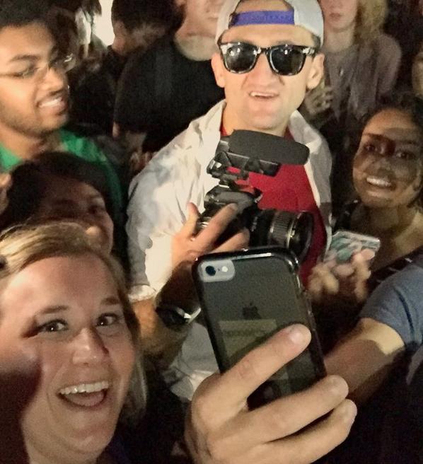 @lisamarie1024 got a selfie with Casey Neistat.