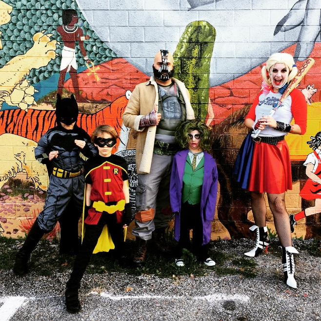 We tried to get all of our Halloween photos into our special Halloween edition of What We Did last week, but we just had to include this photo from @karebarebrown featuring Batman, Robin and a whole bunch of villains.