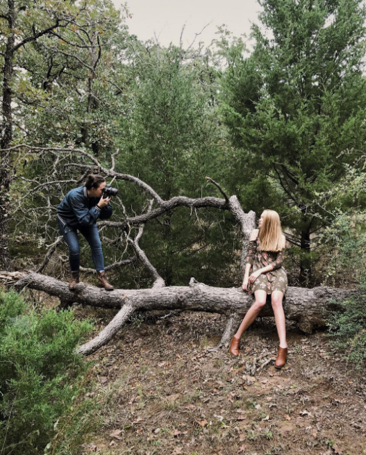 Behind the scenes of @breafkast's fall shoot at Lake Forest Park.