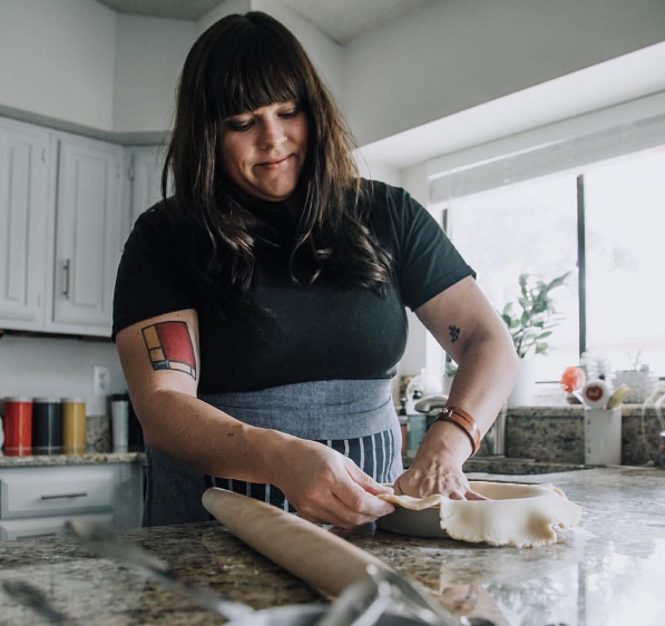 Pie maker extraordinaire, @ajleaps, of @scoutbakedgoods was recently featured by @pilgramers. Check out their account for the interview  here .