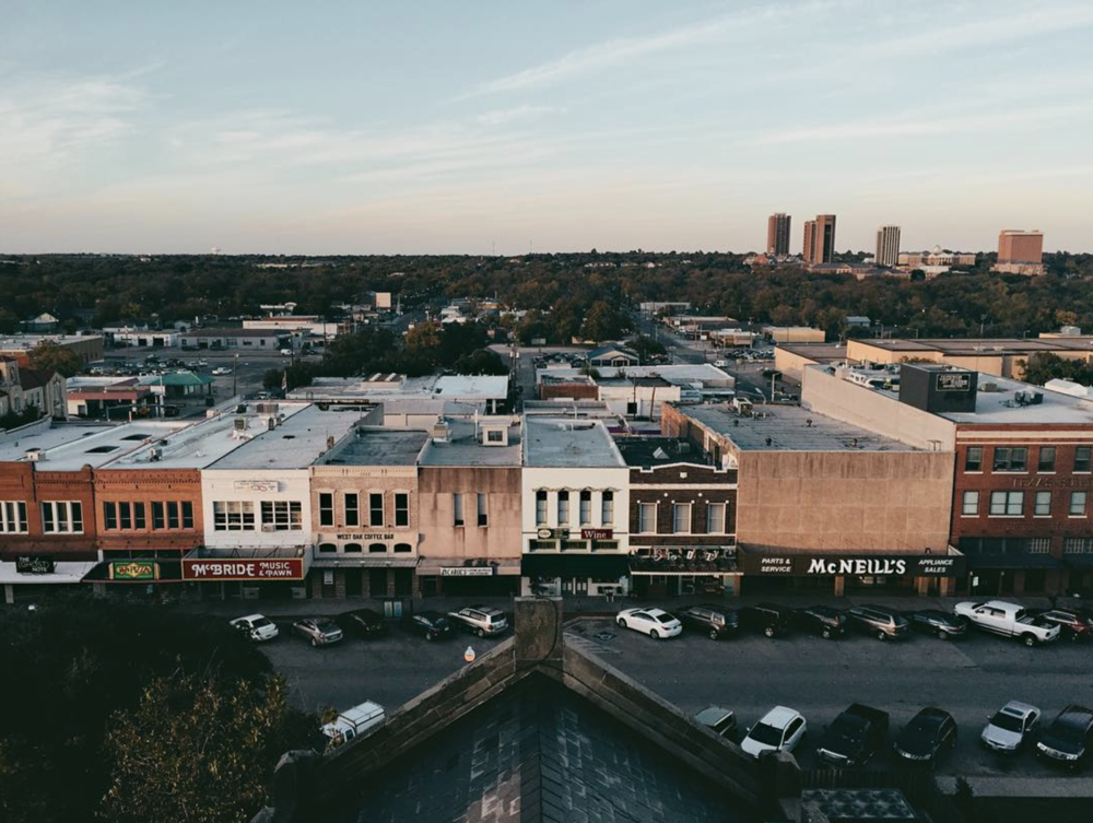 @nikareally looking north from the top of the Denton County Courthouse.