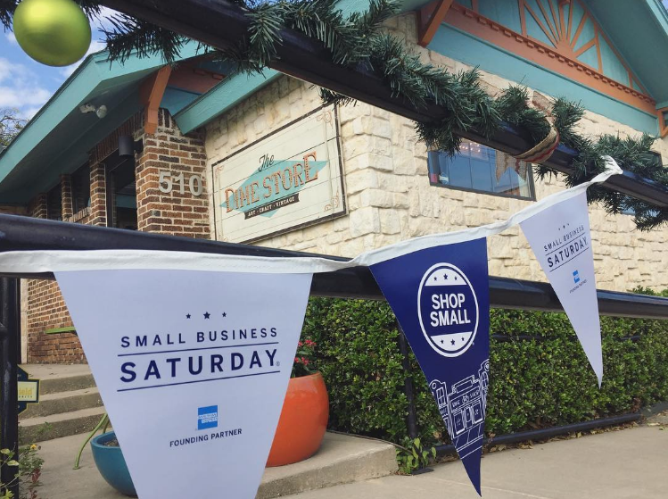 This past Saturday was Small Business Saturday and many local Denton businesses were ready to celebrate. Here's a photo from The DIME Store from @archerplushare. We'll have a new post up later this week with some great gifts that will help you keep your Christmas shopping local this year and shop small businesses all month long.