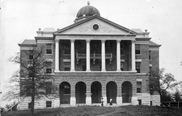 [Administration Building at Texas State College for Women], photograph, Date Unknown; University of North Texas Libraries, The Portal to Texas History,  texashistory.unt.edu ; crediting Denton Public Library.