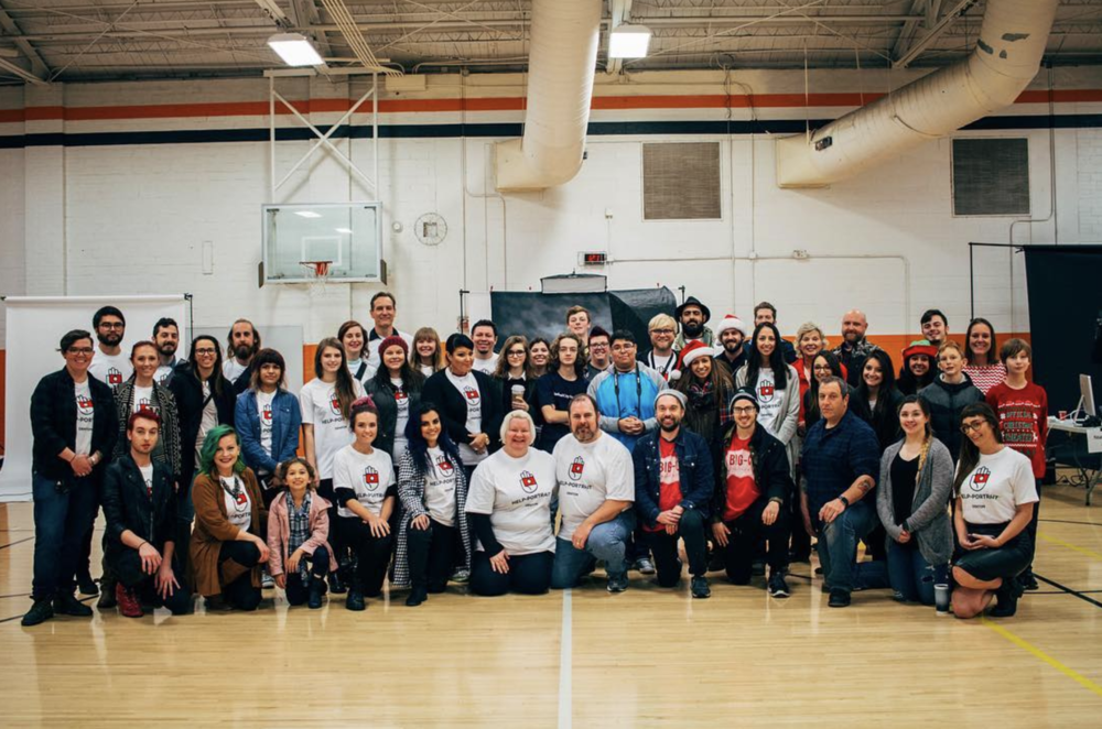 @helpportraitdenton was this past Saturday at Calhoun Middle School. The group offered free professional portraiture (in addition to hair styling and make up) to participants.Here is a photo of all of this year's volunteers.