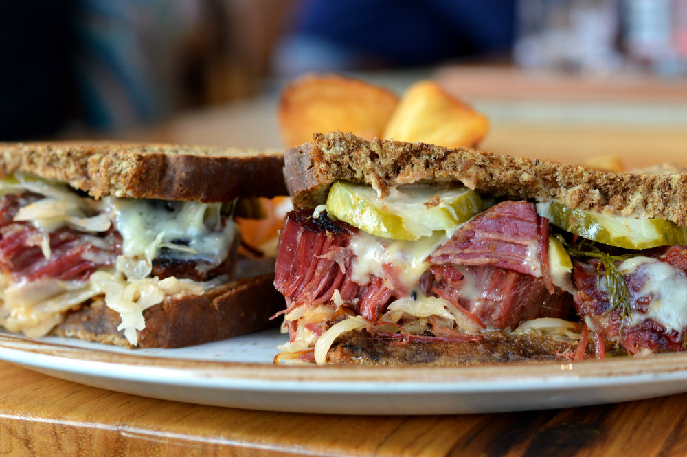 The new reuben at Barley and Board.