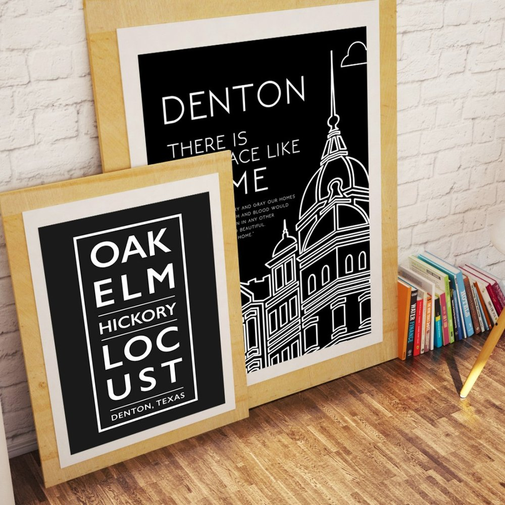 Denton Swag has lots of cool Denton-themed items and some are for sale at the DIscover Denton Welcome Center.