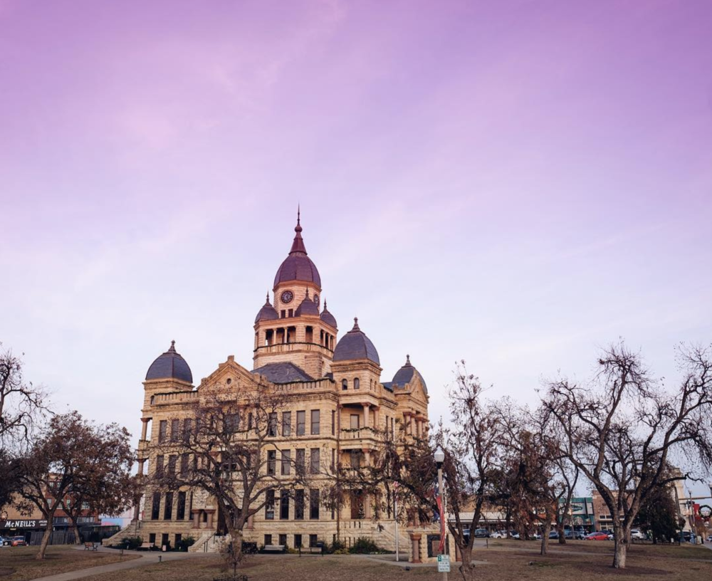 We're still a sucker for a photo of the courthouse in front of a colorful sky. Here's an image just like that from @arozell.
