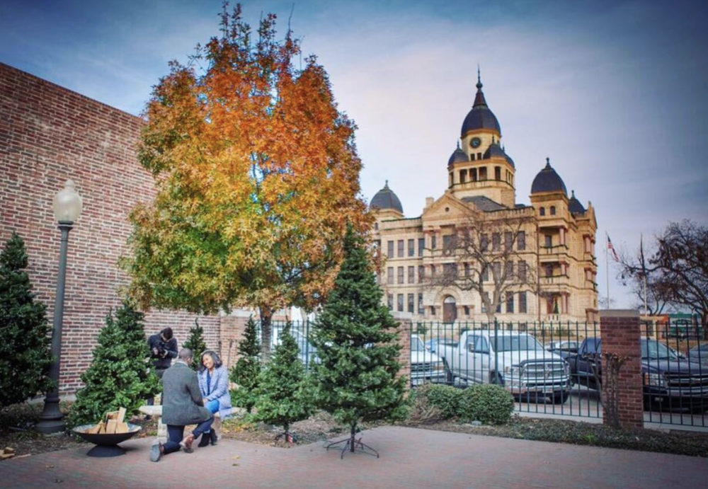 @arozell captured a proposal on the square last week.
