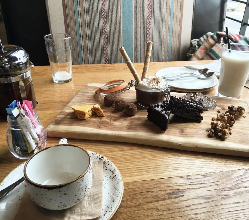 @therad24 and the chocolate board at Barley & Board.