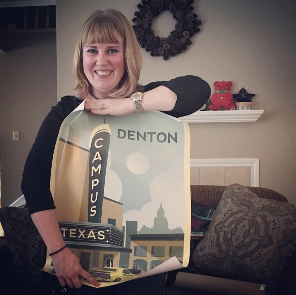@feminartistry got a Denton Swag print for Christmas.