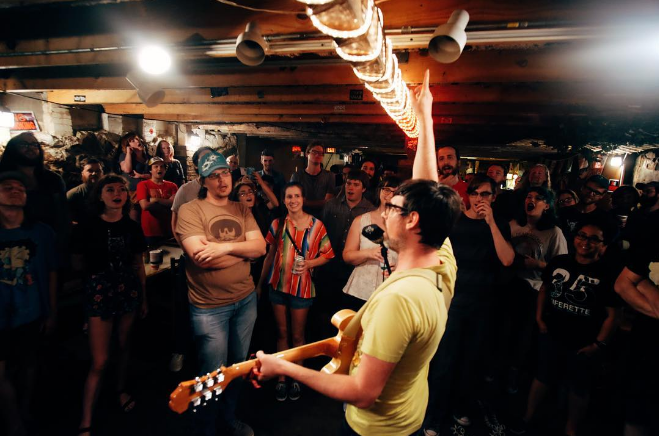 Speaking of venues closing, J and J's Old Dirty Basement also came to an end in 2016. Here's an image of Fishboy playing the late basement earlier in the year. Photo by @mrhuggins.