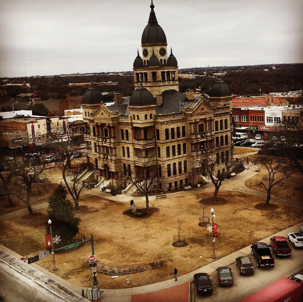 The Courthouse from the top of the Wells Fargo Building shared by @beardedmonk. PS Happy Bday!