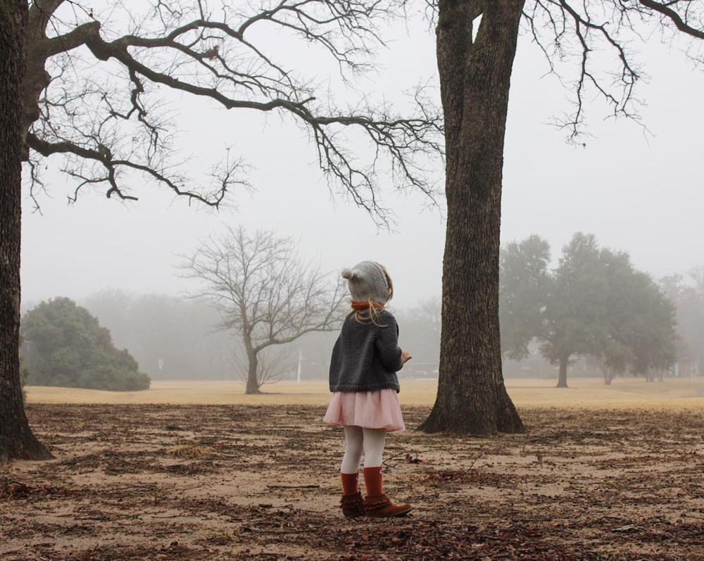 Fog turns Denton into a completely different place. Photo by @cassiearnoldart.