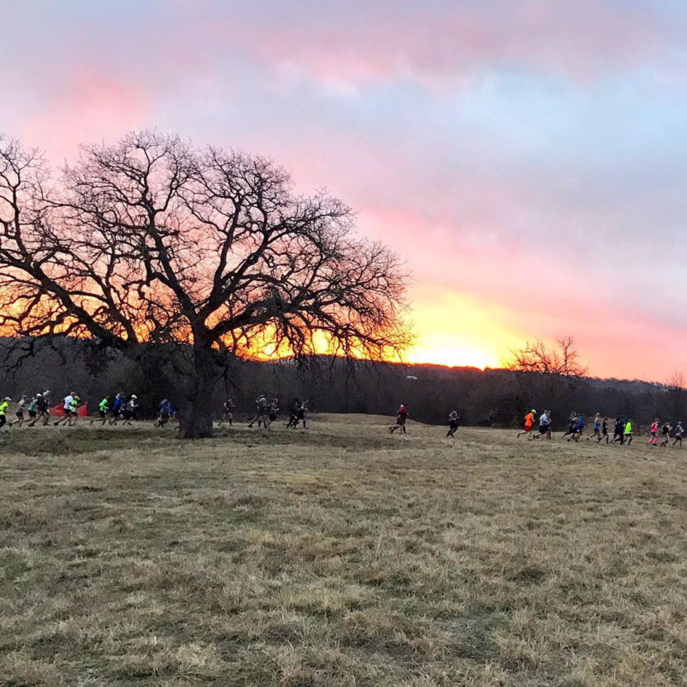 @roman_a_w shared a shot from @exploreendureof a sunrise during the recent Knob Hills Trail race.