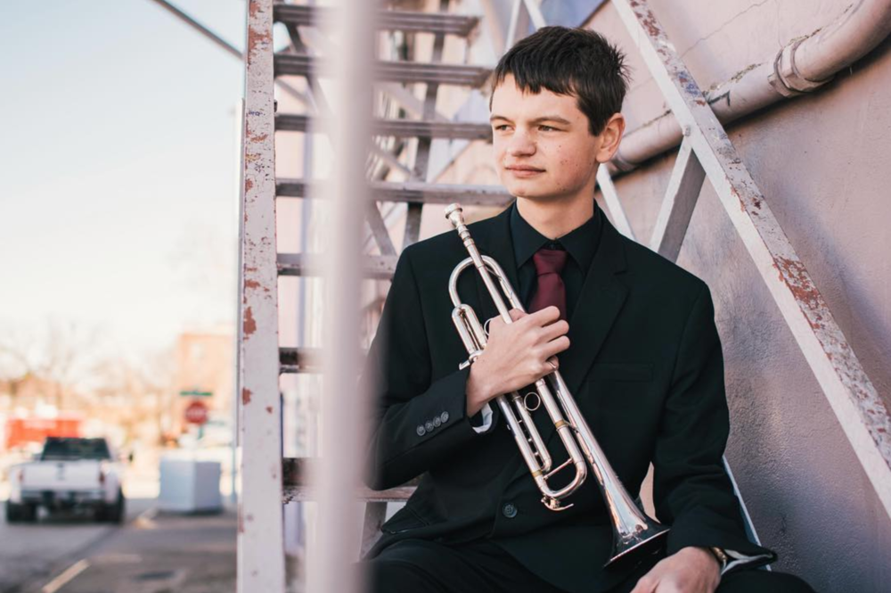 @zach_ashcraft with some horn-filled senior portraits around town.