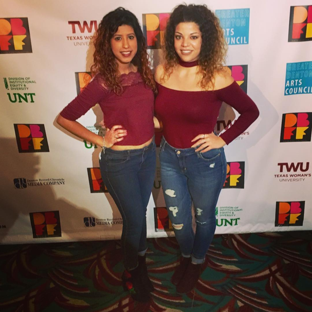 @missmyahpapaya twinning at the Denton Black Film Festival