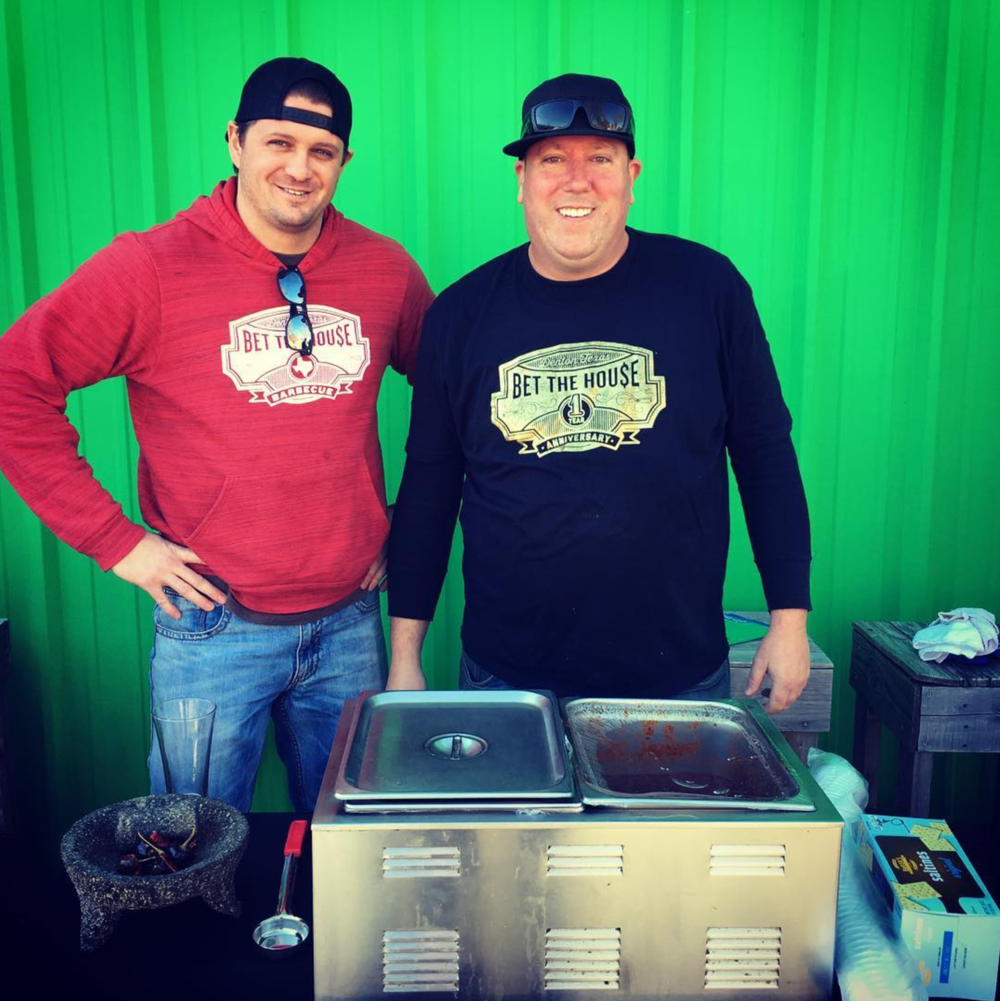 And here's another Chili Cookoff photo from @dentonaut. This time, we've got the fellas from Bet The House.