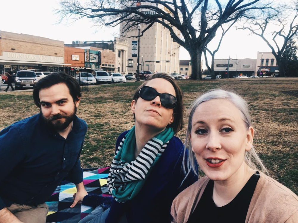 It is definitely okay to have a February picnic on the square if it is 70 degrees outside. Photo by @liz.wakefield.
