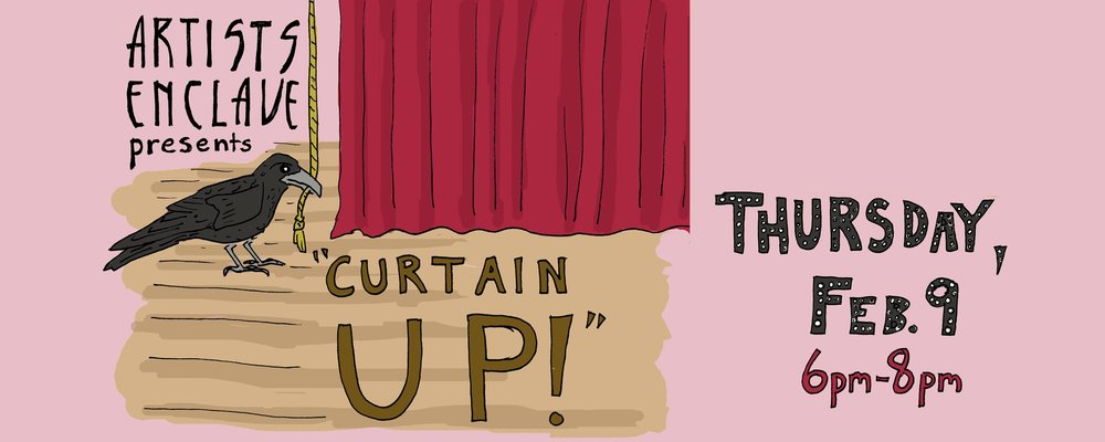"How fast can you spot a Matthew Sallack poster? Check out ""Curtain Up!"" at the Patterson-Appleton Center for the Arts on Thursday."