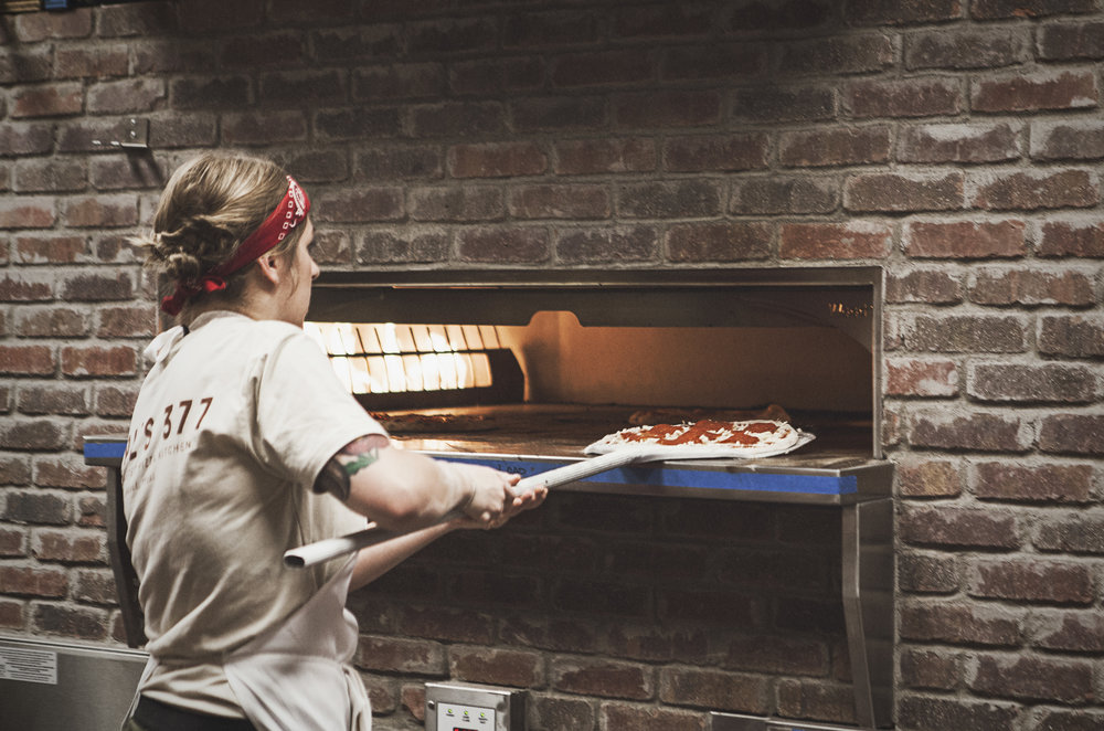 The impressive ovens at Earl's 377 Pizza get really hot.