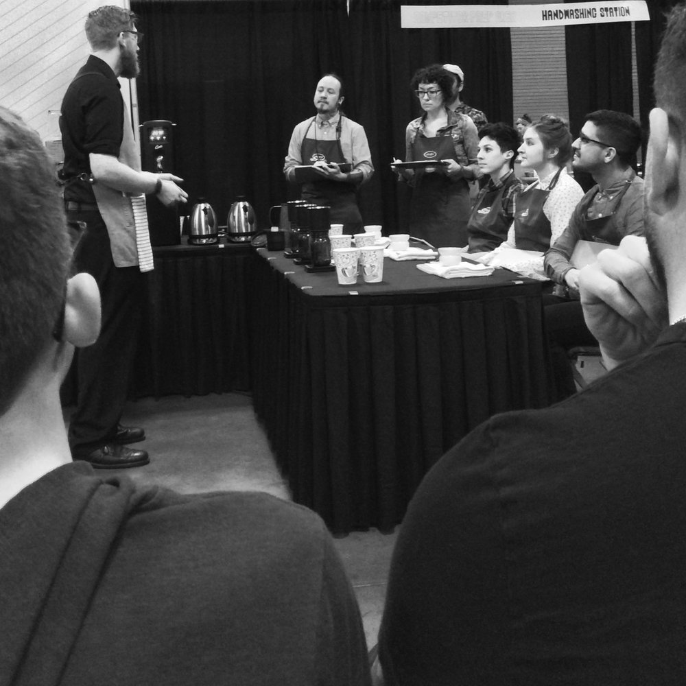 Conor Poull competing in the Brewer's Cup competition. @personalgrind