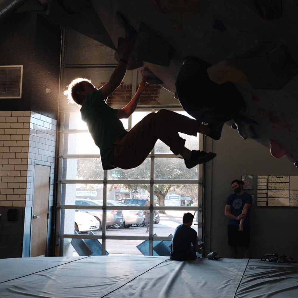 Everything is better when the light is good - even climbing at Summit. Photo by @briandoore.