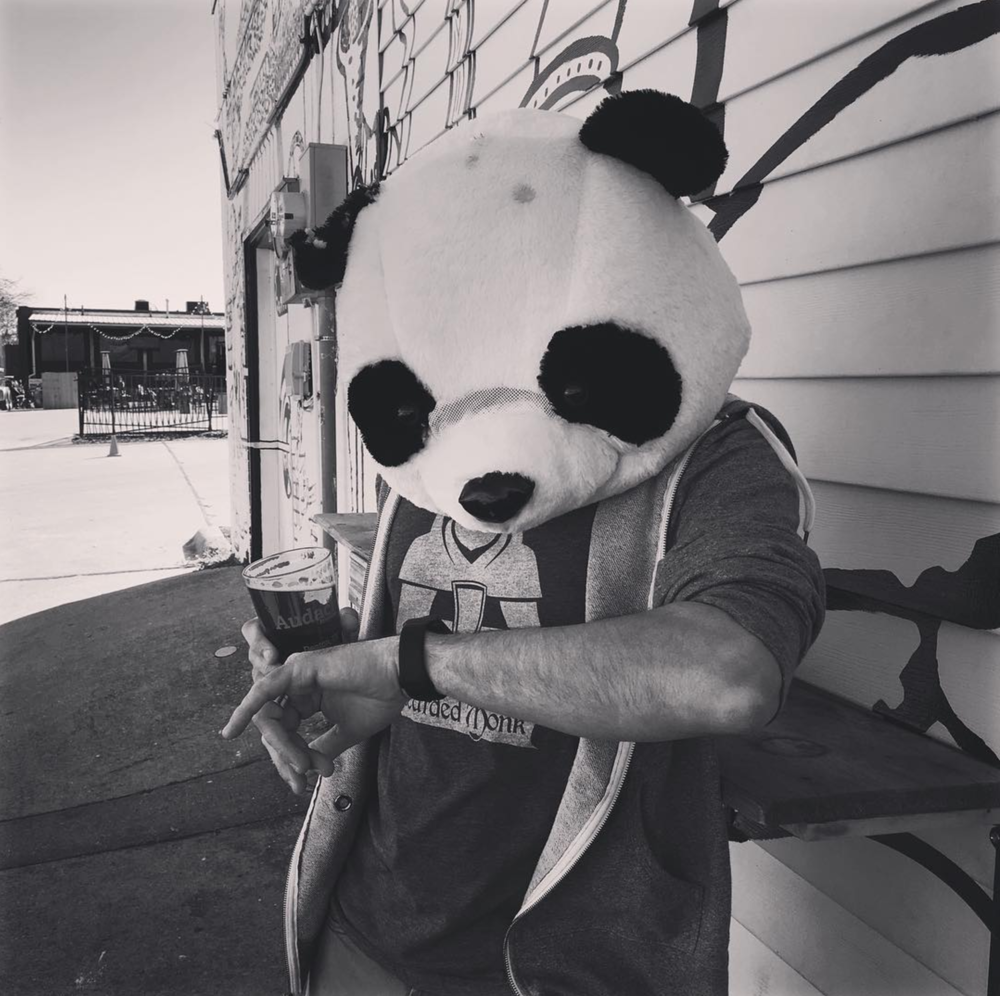 @partypandabeer is a new thing. This panda's natural habitat is The Bearded Monk and we don't really blame him.