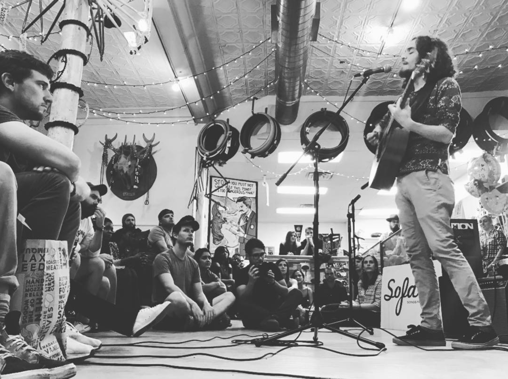 @mnkrmusic at a recent Sofar Sounds show. Photo by @anthonynajera90.