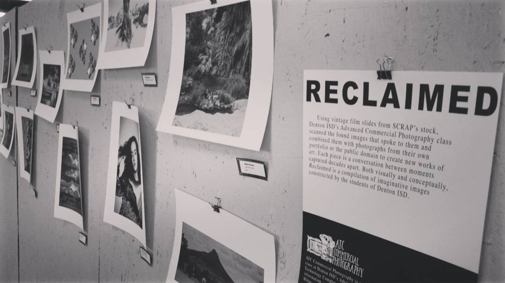 The new exhibit at @scrapdenton's RE:Vision Gallery features reclaimed 35mm film slides.