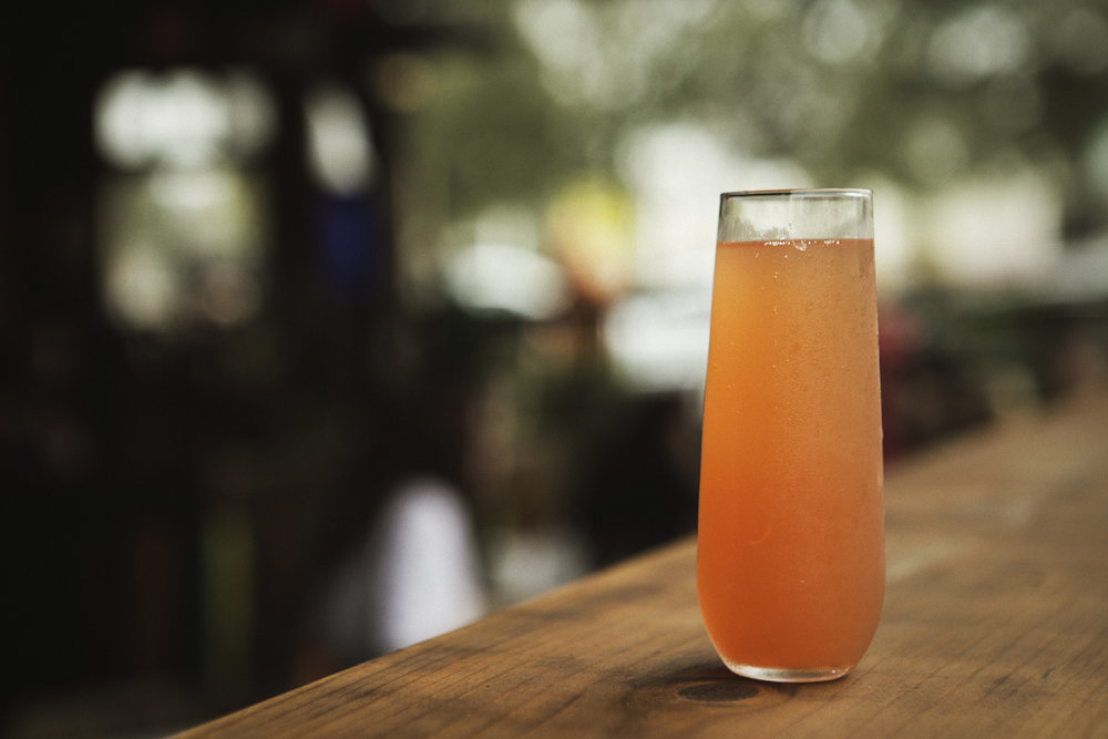 Brunch is a great excuse for colorful daytime cocktails and Agua Dulce doesn't disappoint in those regards.