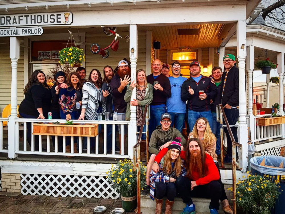 @beardnbeerd with a great group photo on the front porch of Oak St.