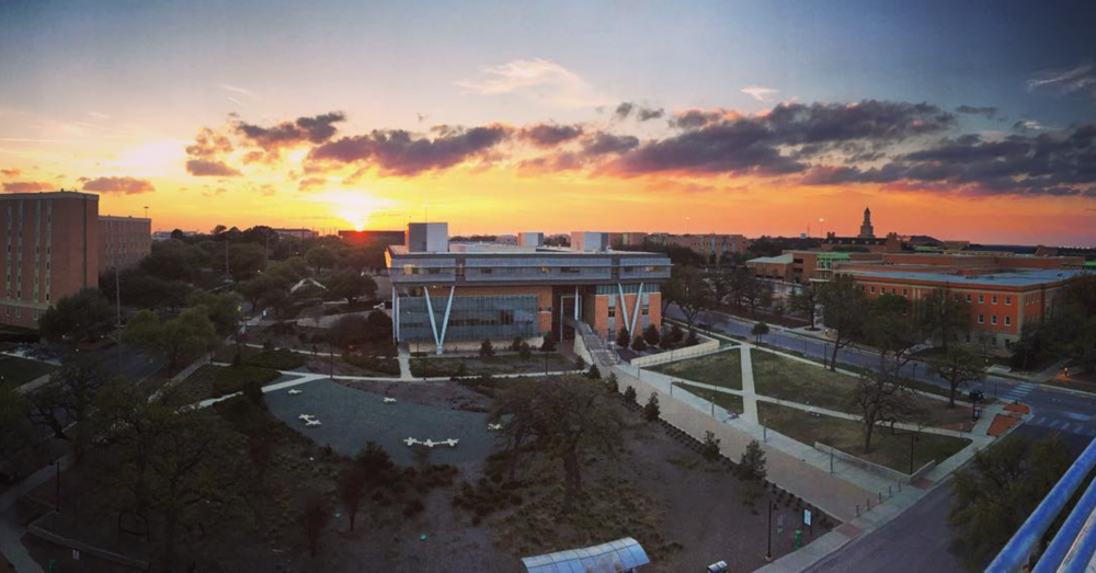 UNT's beautiful business building shot from above by @aereis22.