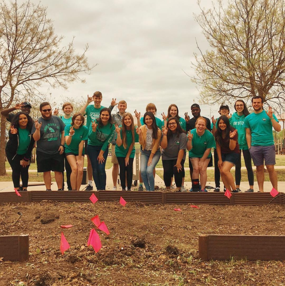UNT's BIG Event allowed for @untsga to pull weeds and plow a garden plot last week. Photo by @msmuric.
